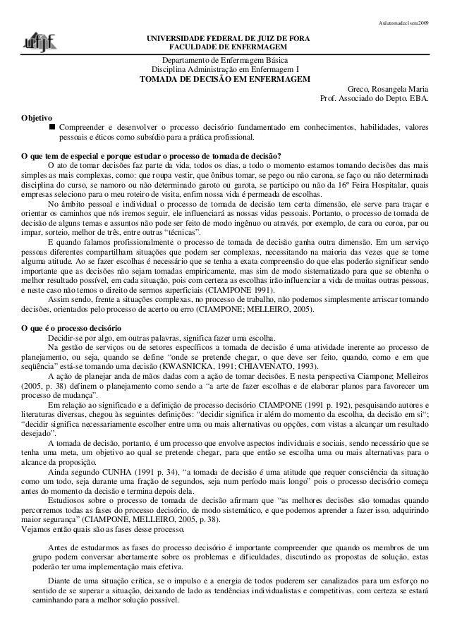 Aulatomadec1sem2009                                     UNIVERSIDADE FEDERAL DE JUIZ DE FORA                              ...