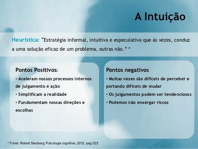 """A Intuição  Heurística: """"Estratégia informal, intuitiva e especulativa que às vezes, conduz  a uma solução eficaz de um pr..."""