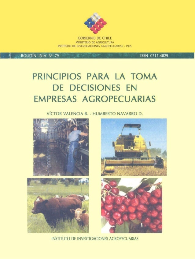 Toma de decisiones agropecuarias