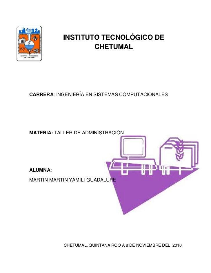 -48196528575<br />INSTITUTO TECNOLÓGICO DE CHETUMAL<br />carrera: ingeniería en sistemas computacionales<br />276352020383...