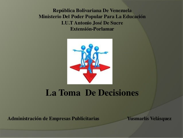 República Bolivariana De Venezuela Ministerio Del Poder Popular Para La Educación I.U.T Antonio José De Sucre Extensión-Po...