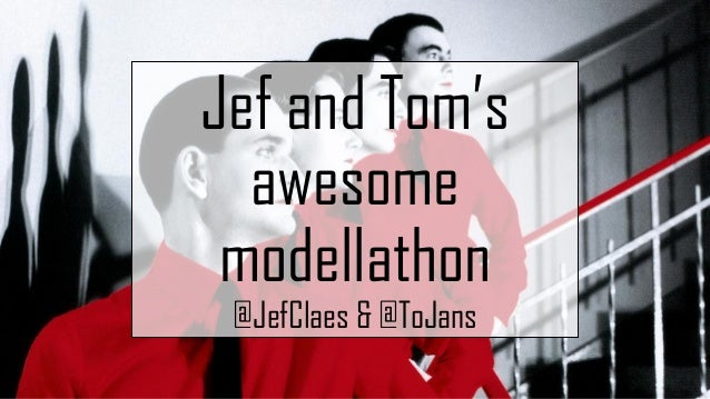 Jef and Tom's awesome modellathon @JefClaes & @ToJans