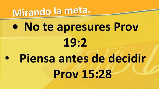 • ¿Qué dice Dios en Su Palabra? • Mandatos expresos o principios de vida
