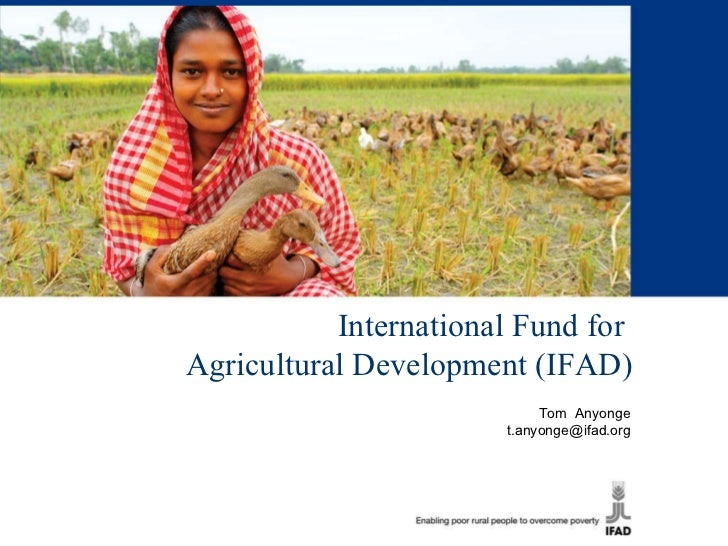 International Fund for  Agricultural Development (IFAD) Tom  Anyonge [email_address]