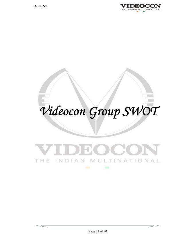 to map brand performance of videocon brand and competition