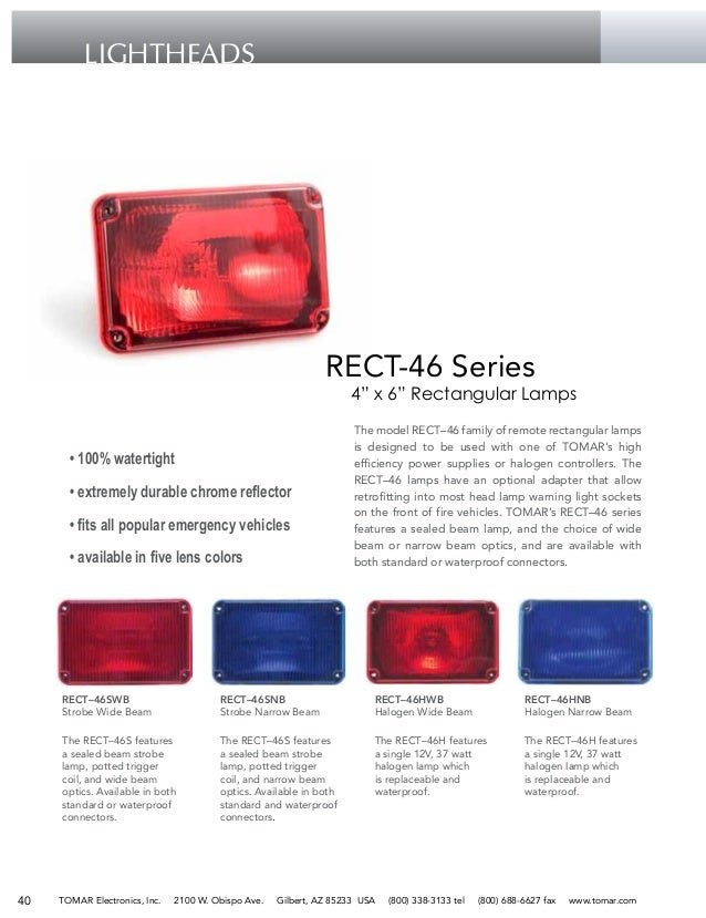 Tomar emergency vehicle products lightbars led lightheads self co tomar 41 mozeypictures Images