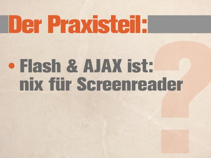 Die Prinzipien: (der WCAG 2)        Content must be perceivable 1.        Interface elements in the content must be operab...