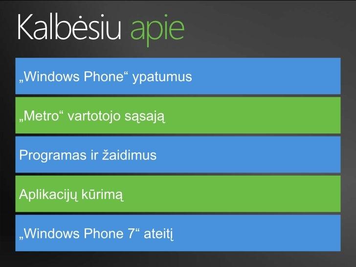 Windows Phone 7 Slide 2