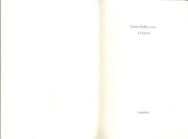 Tomas kulka y moles el kitsch padid 2016 libro pdf Slide 3