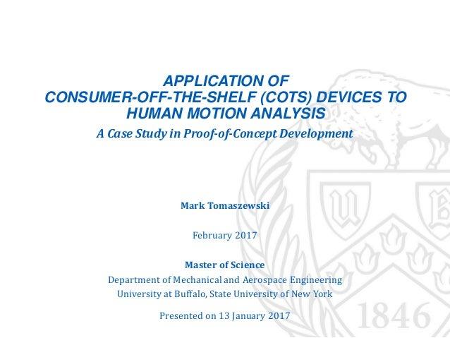 Tomaszewski, Mark - Thesis Slides: Application of Consumer