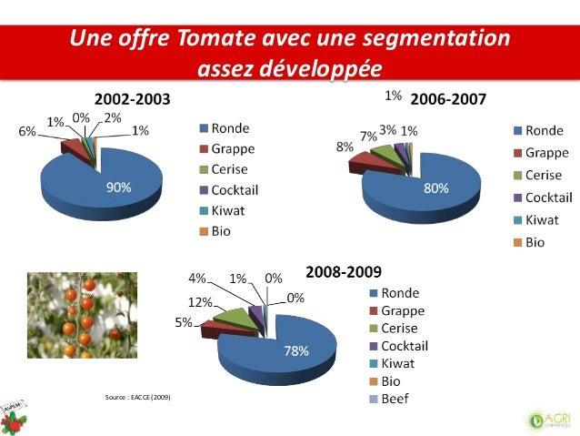 Source : EACCE (2009) Une offre Tomate avec une segmentation assez développée