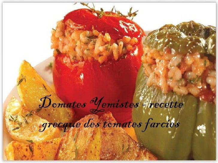 Domates Yemistes - recettegrecque des tomates farcies