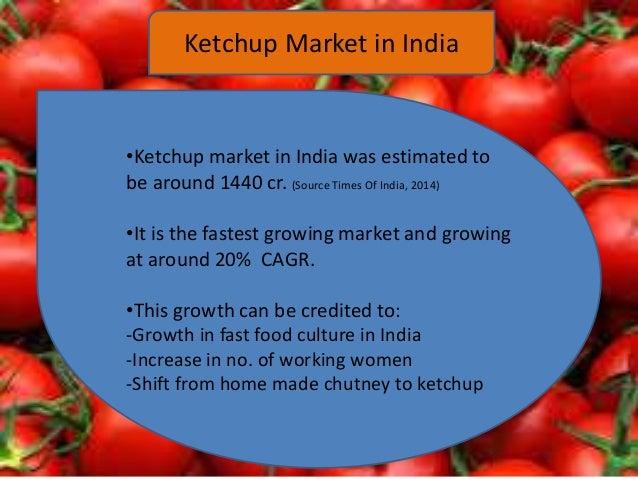 Ketchup market in india