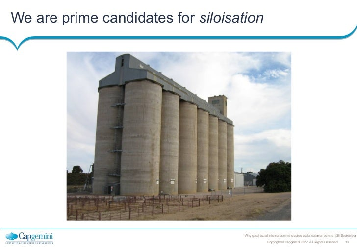 We are prime candidates for siloisation                                    Why good social internal comms creates social e...