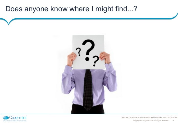 Does anyone know where I might find...?                                  Why good social internal comms creates social ext...