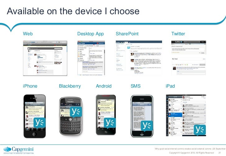 Available on the device I choose   Web              Desktop App      SharePoint                    Twitter   iPhone   Blac...