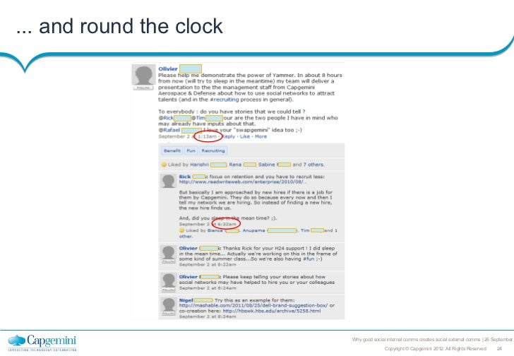 ... and round the clock                          Why good social internal comms creates social external comms   26 Septemb...
