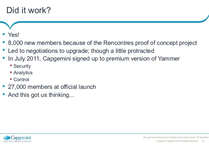 Did it work?   Yes!   8,000 new members because of the Rencontres proof of concept project   Led to negotiations to upg...