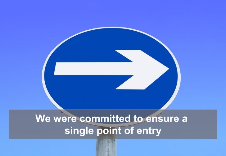 We were committed to ensure a     single point of entry                      Why good social internal comms creates social...