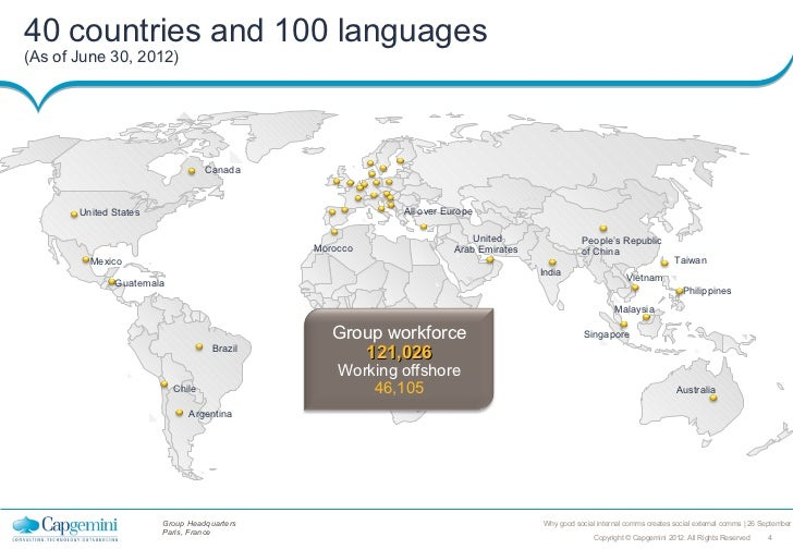 40 countries and 100 languages(As of June 30, 2012)                                  Canada       United States           ...