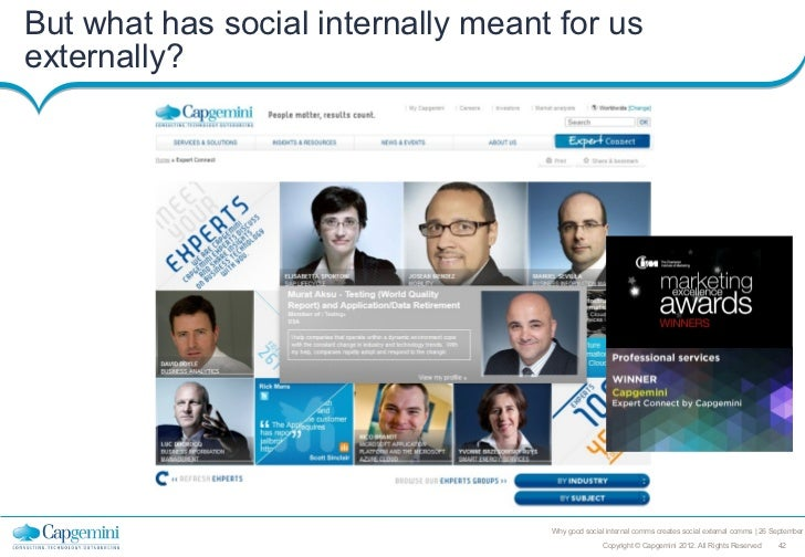 But what has social internally meant for usexternally?                                    Why good social internal comms c...