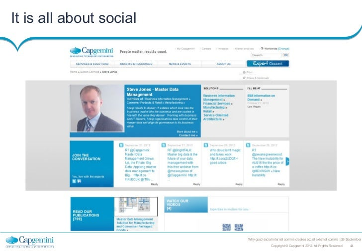 It is all about social                         Why good social internal comms creates social external comms   26 September...