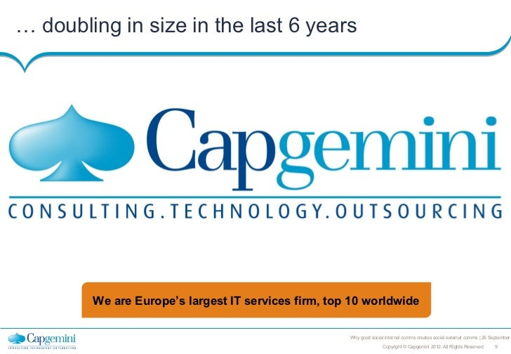 … doubling in size in the last 6 years        We are Europe's largest IT services firm, top 10 worldwide                  ...