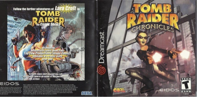 Tomb Raider Chronicles Manual Dreamcast Ntsc