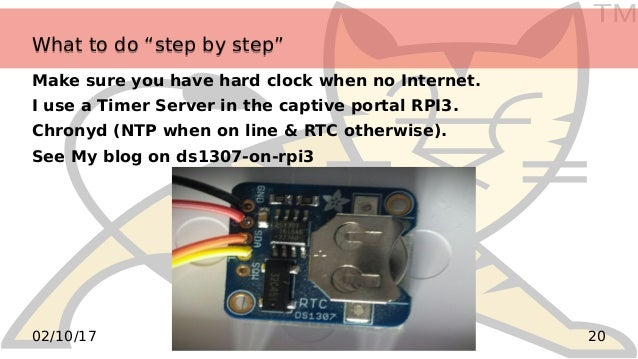 """TM 2002/10/17 What to do """"step by step""""What to do """"step by step"""" Make sure you have hard clock when no Internet. I use a T..."""