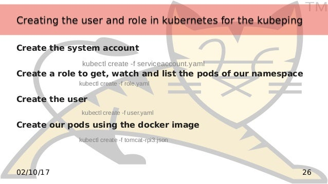 TM 2602/10/17 Creating the user and role in kubernetes for the kubepingCreating the user and role in kubernetes for the ku...