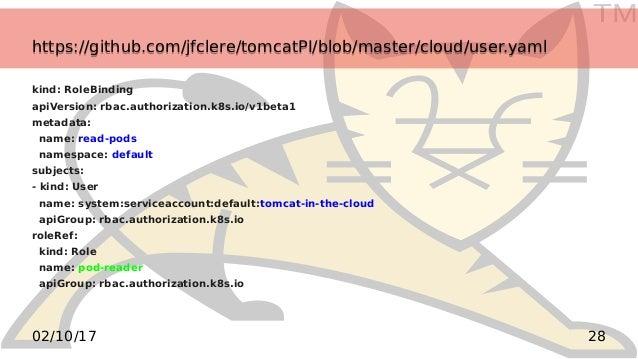 TM 2802/10/17 https://github.com/jfclere/tomcatPI/blob/master/cloud/user.yamlhttps://github.com/jfclere/tomcatPI/blob/mast...