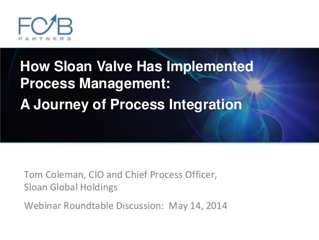 ©2014 FCB Partners. All rights reserved. Tom Coleman, CIO and Chief Process Officer, Sloan Global Holdings Webinar Roundta...