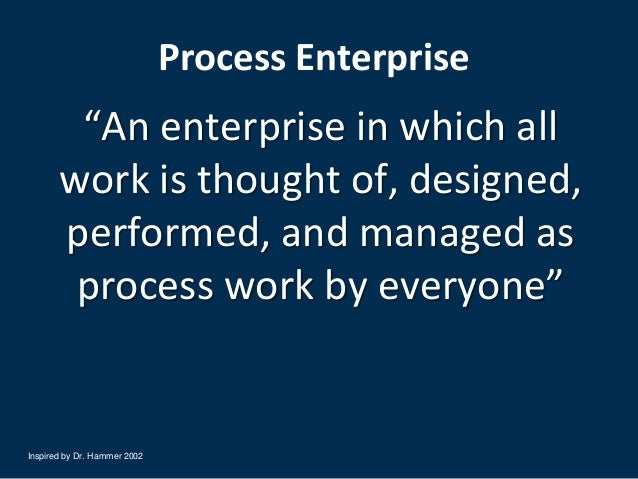 How Sloan Valve Has Implemented Process Management A