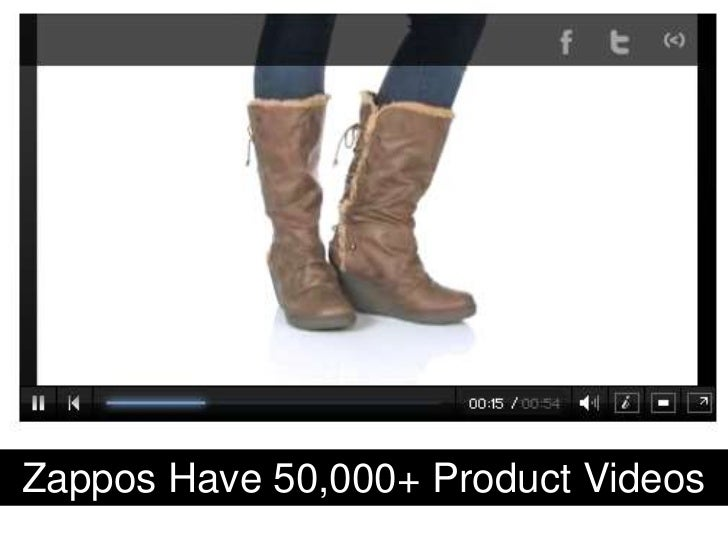 Zappos Have 50,000+ Product Videos
