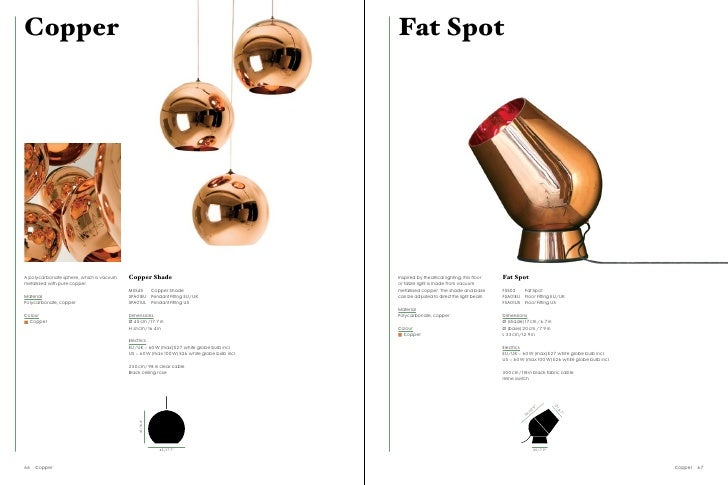 Copper Fat Spot A Polycarbonate Sphere, Which Is Vacuum Copper Shade  Inspired By Theatrical Lighting, This Floor Fat Spot Metallised With Pure  Copper. Or ...