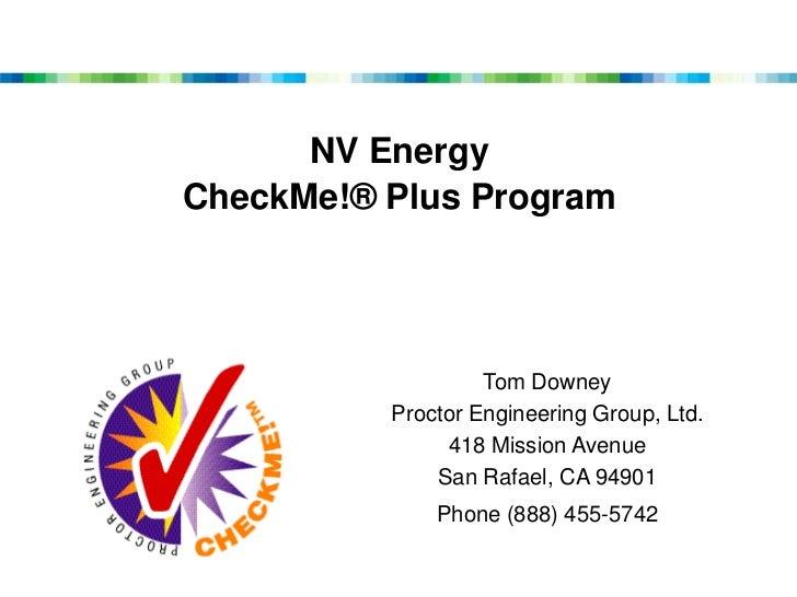 Nv Energy Phone Number >> Western Region Conference Nv Energy Checkme Plus Program Presentat