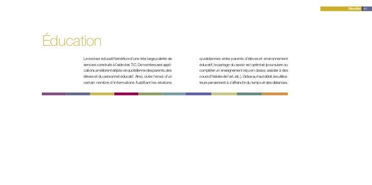 Éducation 127Éducation      Le secteur éducatif bénéficie d'une très large palette de     quotidiennes entre parents d'élè...