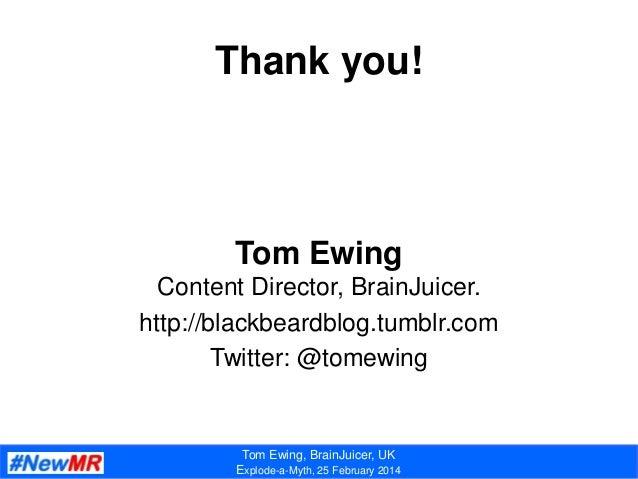 Tom ewing   explode-a-myth - 2014 Slide 3