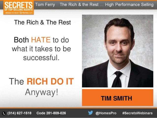 The Rich & The Rest   Distinctions of High Performance Selling - Tom …