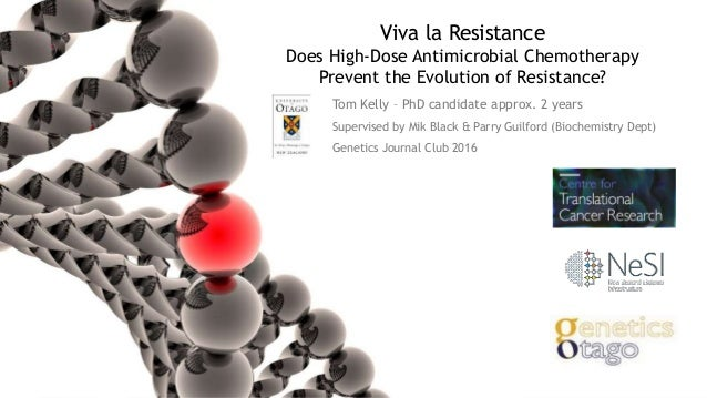 Viva la Resistance Does High-Dose Antimicrobial Chemotherapy Prevent the Evolution of Resistance? Tom Kelly – PhD candidat...