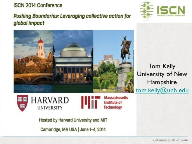 Tom Kelly  University of New Hampshire  tom.kelly@unh.edu