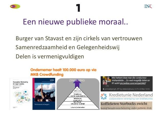Een nieuwe publieke moraal..                                         Burger van Stavast en zijn cirkels...