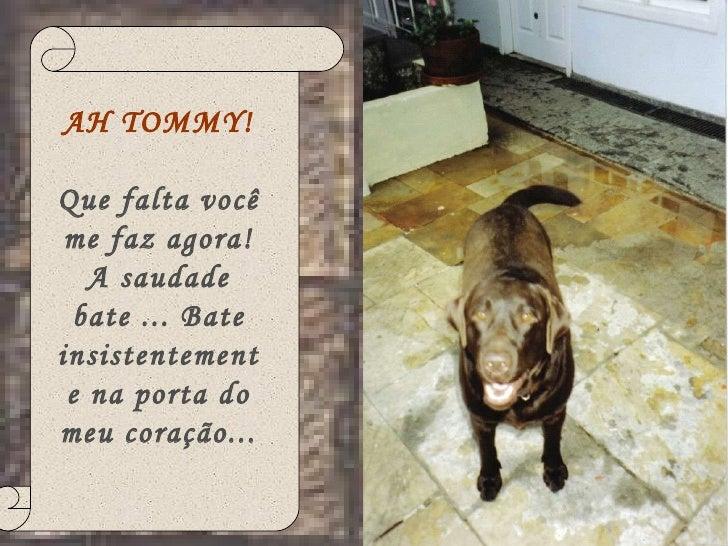 Tommy que saudade Slide 2