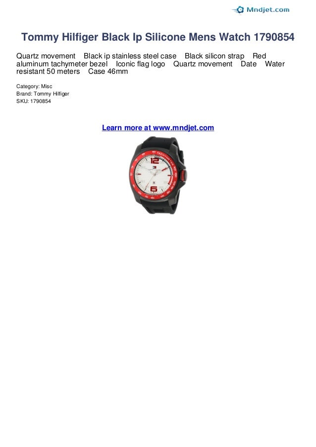 Tommy hilfiger black ip silicone mens watch 1790854 review by mndjet 52bdf98aa7c
