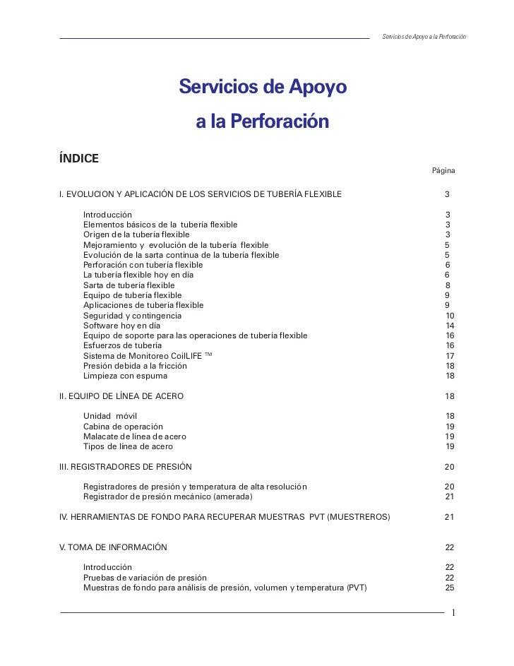 Servicios de Apoyo a la Perforación                             Servicios de Apoyo                                  a la P...