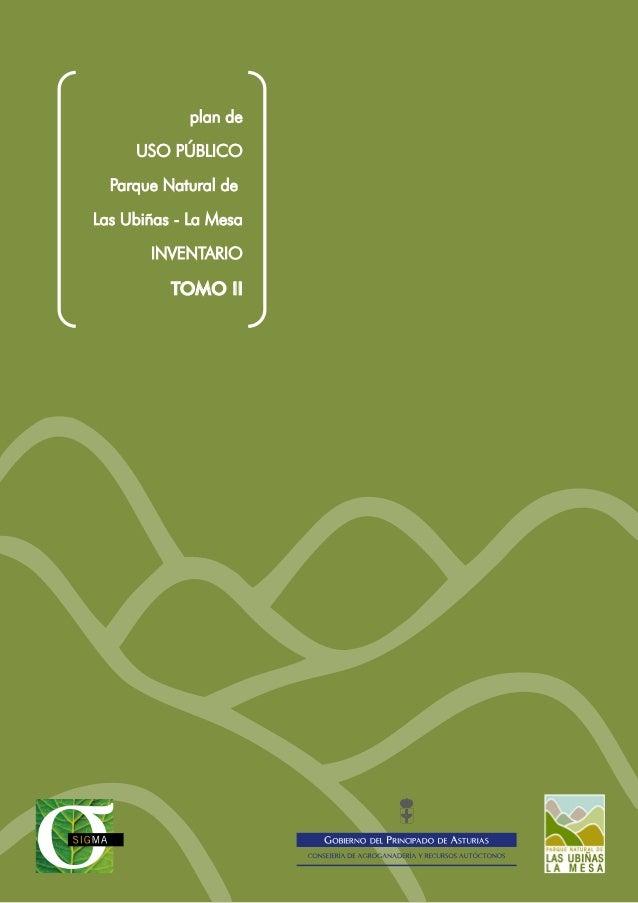 plan de USO PÚBLICO Parque Natural de Las Ubiñas - La Mesa INVENTARIO TOMO II