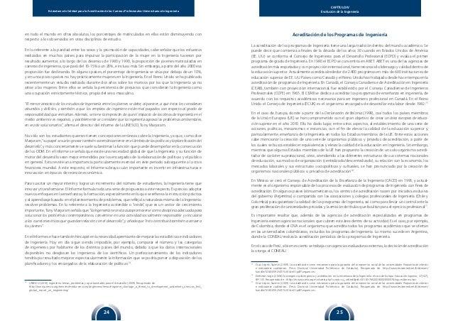 Estándares de Calidad para la Acreditación de las Carreras Profesionales Universitarias de Ingeniería 2524 CAPÍTULO IV Evo...