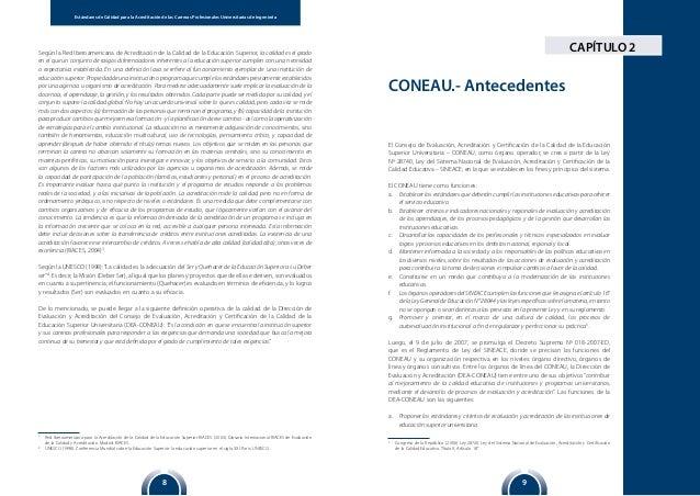 98 Estándares de Calidad para la Acreditación de las Carreras Profesionales Universitarias de Ingeniería CAPÍTULO 2Según l...