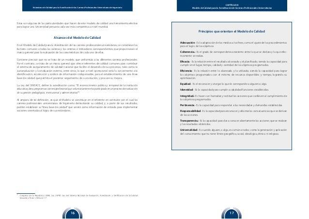 1716 Estándares de Calidad para la Acreditación de las Carreras Profesionales Universitarias de Ingeniería CAPÍTULO III Mo...