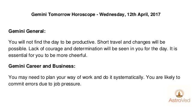 Tomorrow Horoscope by Moon Sign - Wednesday, 12th april